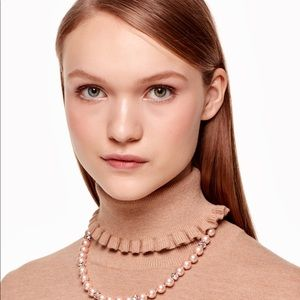 kate spade Jewelry - ♠️ Kate Spade Pearl Necklace with Rhinestones